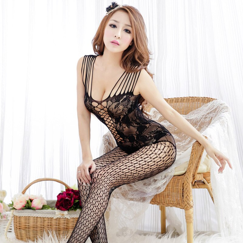 Women Sexy Lingerie Hot Open Crotch Underwear Sex Costumes Mesh Fishnet Products Body Suit Erotic Exotic Apparel 25