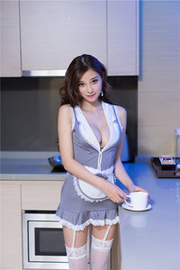 Sexy Maid Uniform Women Lingerie 2018 Sexy Erotic Lingerie Hot Porn Women Lace Teddy Babydoll Dress Maid Costumes Sex Underwear