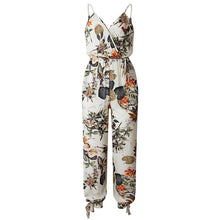 Load image into Gallery viewer, Female Jumpsuit for Women 2019 Summer Floral Print Jumpsuit Womens Trousers Bohemian Rompers Jumpsuit Long Pants Overalls Female