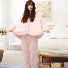 Load image into Gallery viewer, 2018 Winter Warm Women Pajamas Fluffy Fleece Onesie Pyjamas Pink Female Sleepwear Hooded Pajama Set Women Home Suit 50