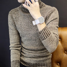 Load image into Gallery viewer, 2018 Winter Mens Turtleneck Sweaters Pullovers Clothing Warm Thick Men Cotton Knitted Sweater Male Sweaters Pull Homme XXXL 50