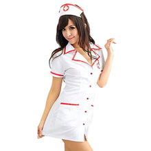 Load image into Gallery viewer, Sexy Nurse Costume Set 2018 Women Sexy Lingerie Hot White Nurse Uniform Cosplay For Women Erotic Costume Tempt V-Neck Dress 50