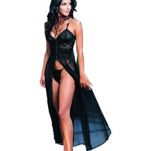 Load image into Gallery viewer, 2016 New Women Sexy Lingerie Hot Long Black Veil Lingerie Lenceria Sexy Baby doll Dress Erotic Costumes Exotic Apparel 45