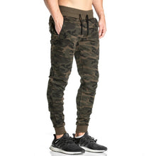 Load image into Gallery viewer, 2018 Men Casual Pants Camouflage Print Cotton Pants Drawstring Elastic Waist Pocket Trousers Brand Male Pants Tracksuit 50