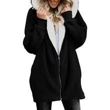 Load image into Gallery viewer, Women Cardigans Faux Fur Ladies Warm Jumper Fleece Faux Fur Coat Hoodie Outwear Femme Plus size 5XL Women's Jackets Winter Coat