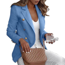 Load image into Gallery viewer, Button Ladies Blazer Woman 2019 Work Suit Women's Jacket Office Lady Formal Women Blazers and Jackets Female Blazer Femme 5XL