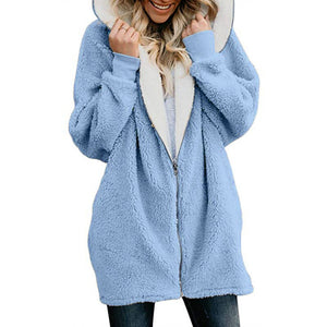 Women Cardigans Faux Fur Ladies Warm Jumper Fleece Faux Fur Coat Hoodie Outwear Femme Plus size 5XL Women's Jackets Winter Coat