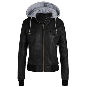 Winter Leather Jacket Women 2019 Casual Ladies Basic Jackets Coats Warm Plush Female Motorcycle Jacket Coats Plus Size 3XL