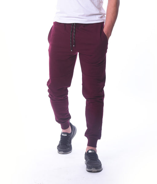 Basic Burgundy Sweatpants
