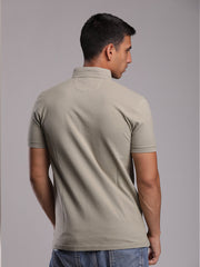Pistachio-Polo_Shirt With Coller-Detail
