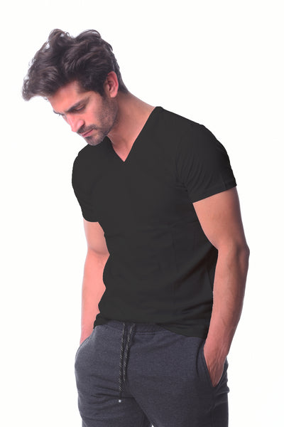 Basic V-neck Black