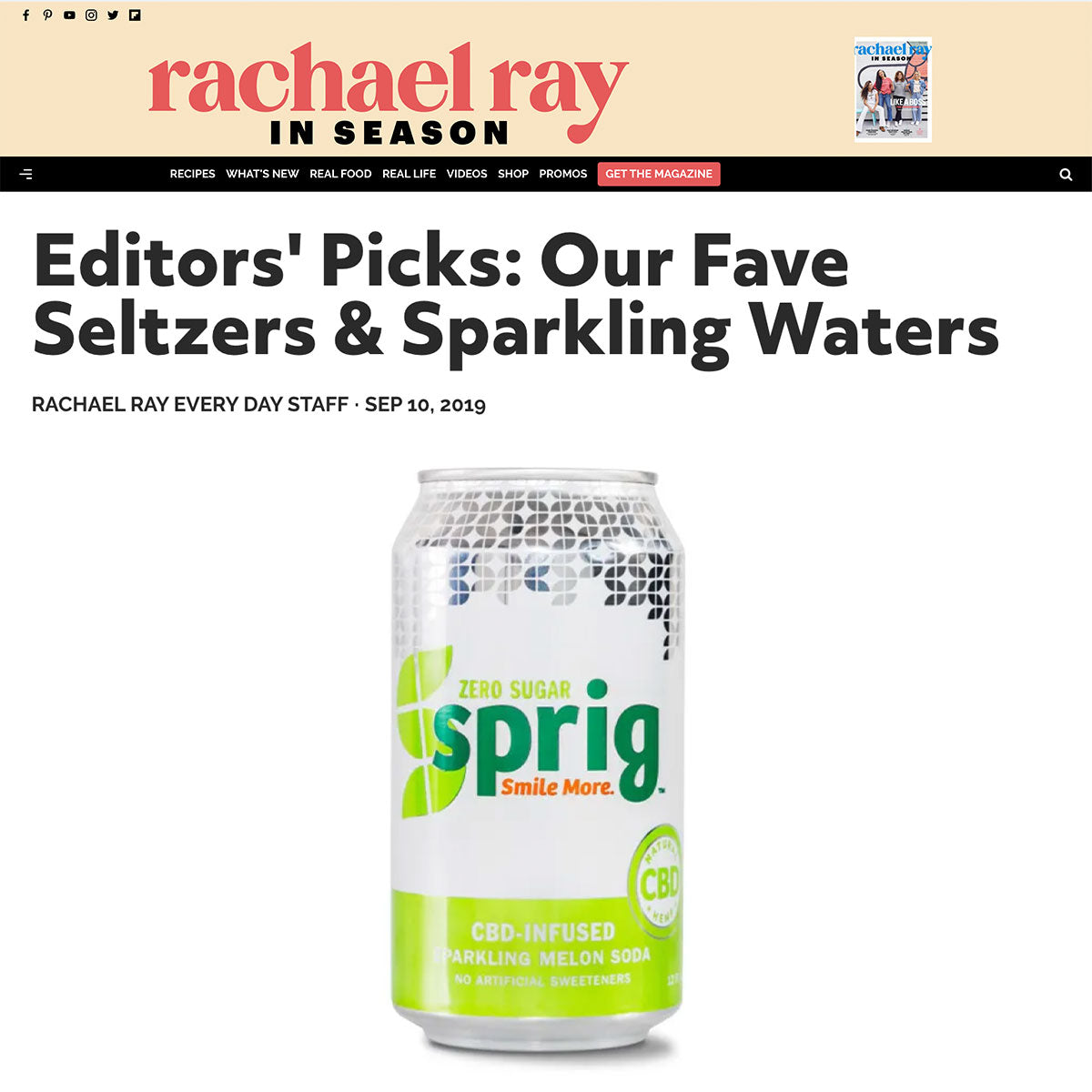 Rachel Ray Every Day: Our Fave Seltzers & Sparkling Waters