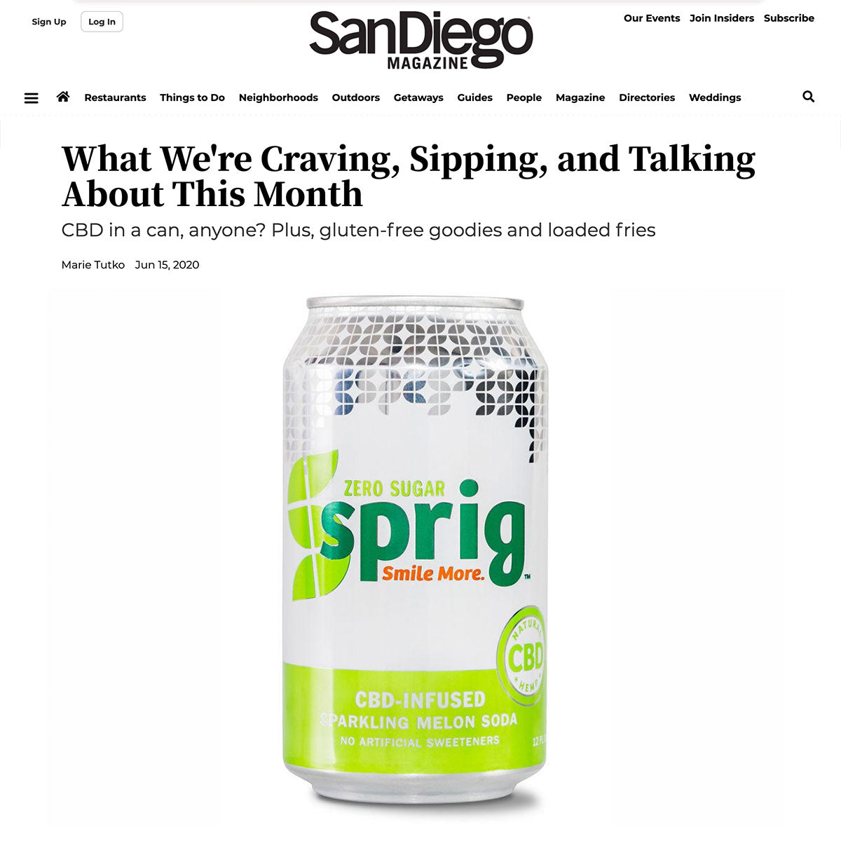 San Diego Mag: What a Relief Fizz Is