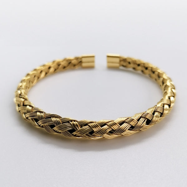 Gold Braided Cuff - Invinity Amsterdam