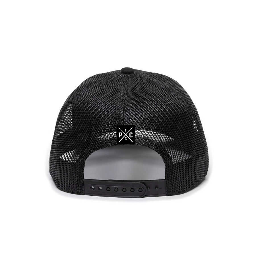 Pelagic Black Premium Low Trucker Hat back