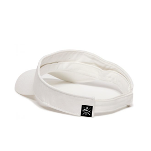 Pelagic Fish White Cotton Visor