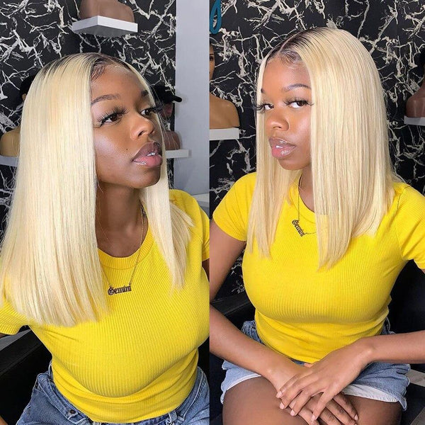 Michelle: 6-16'' Brazilian Hair - Straight bob LACE FRONT WIG