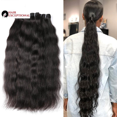 8-36'' VIRGIN Indian BUNDLES, Natural Wave/straight
