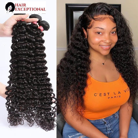 8-40'' REMY Brazilian BUNDLE, Deep Wave