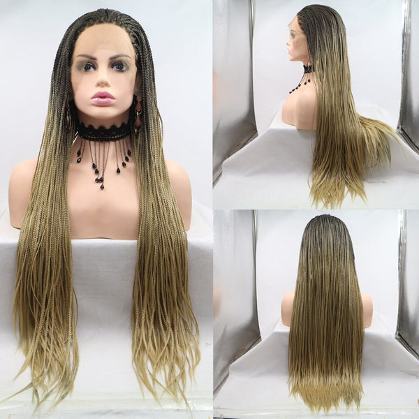 Maria: Synthetic Hair - Braided LACE FRONT WIG