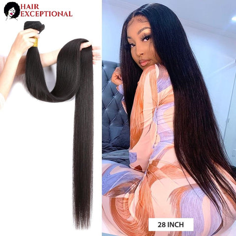 8-40'' VIRGIN Brazilian BUNDLES, Straight