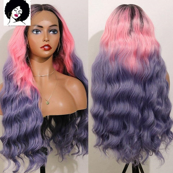 Justine: 20-28'' Synthetic Hair - 3 Tone, Wavy, Heat Resistant Fibre WIG