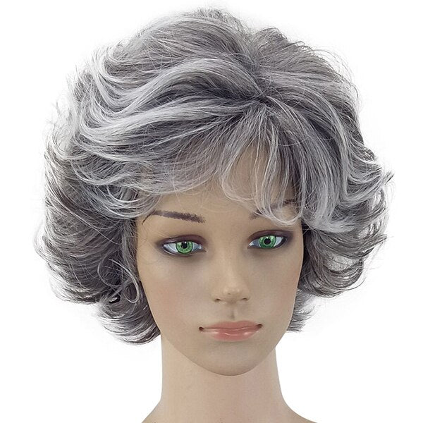 Meghan: 12'' Synthetic Hair -  Short, Curly Layered, Heat Resistant WIG