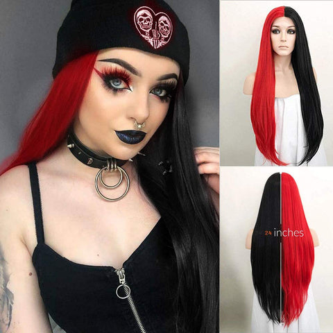 Raven: 24-26'' Synthetic, Heat Resistant Glueless LACE FRONT WIG