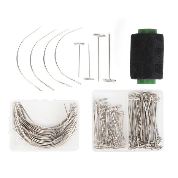 Hairpiece Essentials: 21-23'' Canvas Head For Wig Making with Tripod and T Pins