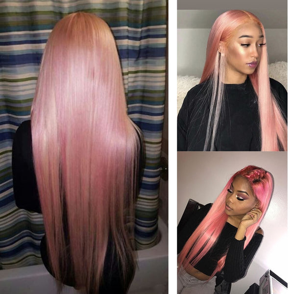 Dolly: 34'' Synthetic Hair - Straight, Middle Part, LACE FRONT WIG