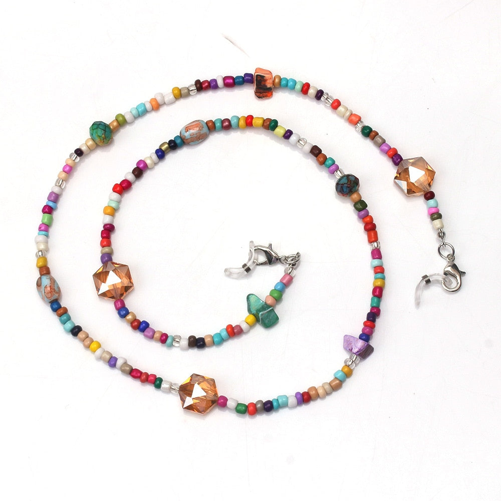 Z- Colorful Beads Anti-lost Face MASK Lanyard