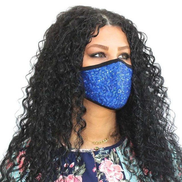Z- Luxury Mesh Rhinestone Jewelry Mask