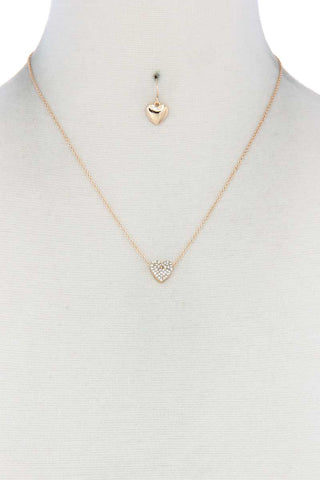 Collier a breloque coeur delicat 53432. Disponible sur RACKI.FR, FRANCE.