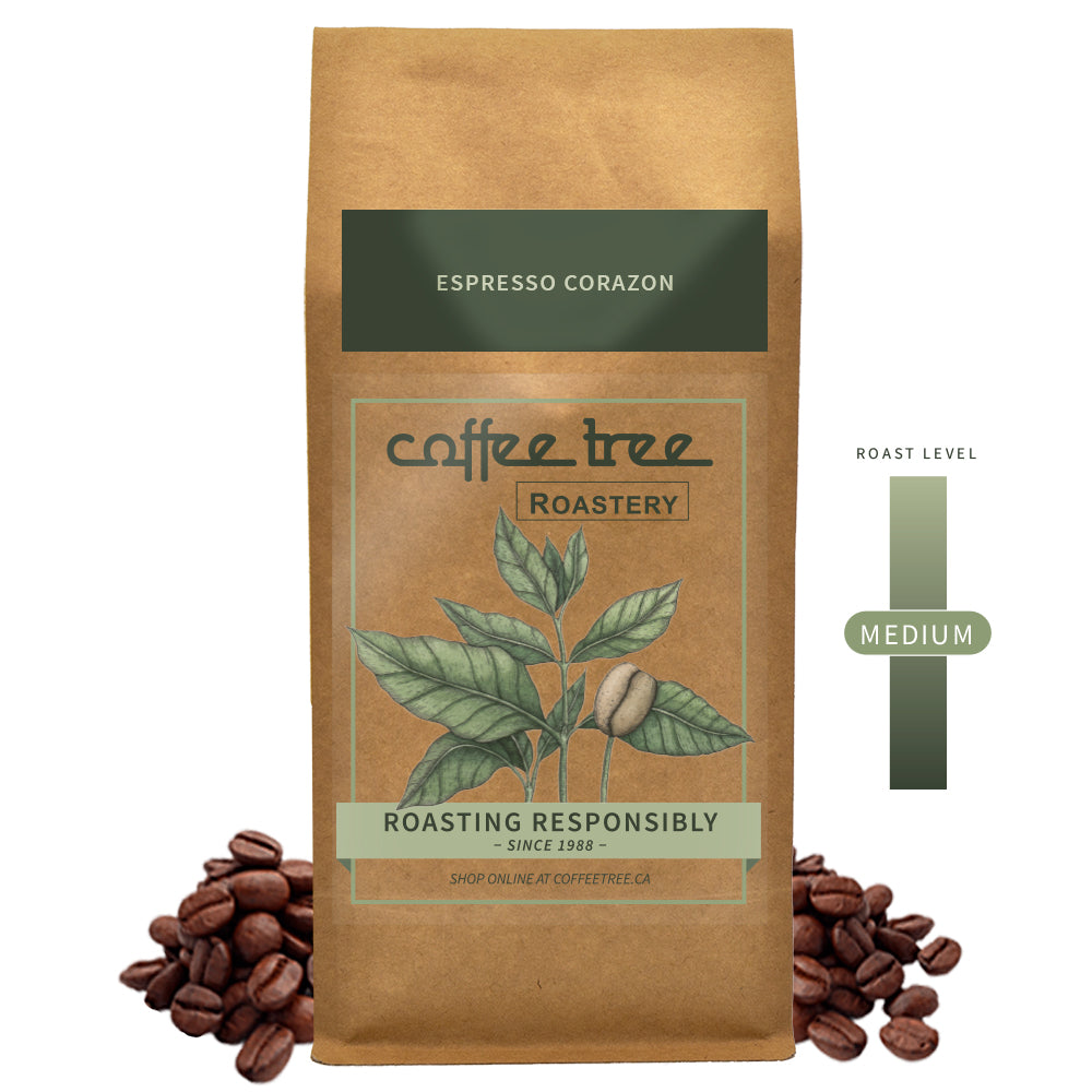 Coffee Tree Roastery Bag of Espresso Corazon coffee beans