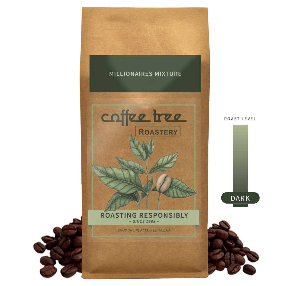 Coffee Tree Roastery bag of Millionaires Mixture coffee beans