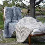 1308 - NEW! Shaker Stitch Chunky Handknit Throw
