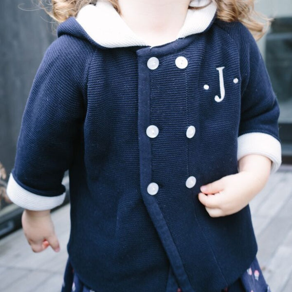 An adorable and snazzy jacket for your little angel!   Perfect for monogramming  100% Cotton by a soft idea