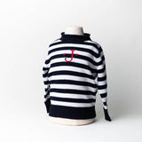 1550 - Striped Rollneck Sweater