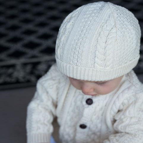 This boy's knit hat is a wonderful accessory for any outfit!  100% Cotton  Machine Washable by a soft idea
