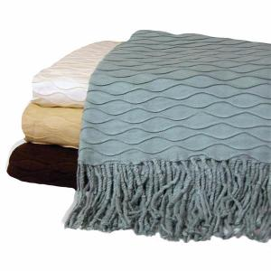 "223 - Wave Solid with Fringe - 50"" x 60"""