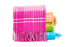 "227 - Two Color Plaid with Fringe - 50"" x 60"""