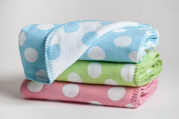 716  - Polka Dots with Blanket Stitch Edge