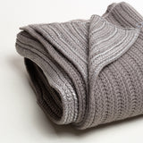 "3057 - Silver Metallic Rib Knit 50""x70"""