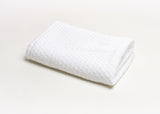 744 - White Stonewashed Basket Weave Throw with Binding