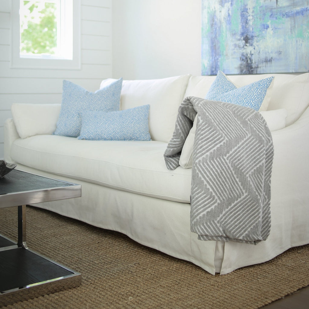 In the spirit of sustainability and with the desire to protect our natural resources, we are proud to offer an array of durable, cotton blend throws made from recycled cotton and other fibers.  100% Recycled Cotton Blend