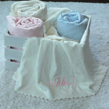 "Super soft quilted blanket will keep baby warm and comforted  100% Microfiber Polyester  30"" x 40""  Machine Washable"