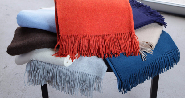 "2122 - 100% Baby Alpaca Throw with Fringe - 50"" x 78"""