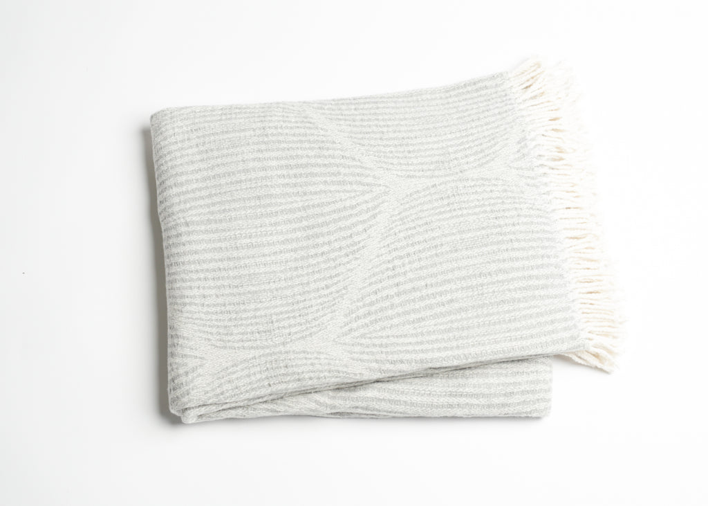 529 - Moire Pattern Throw with Fringe
