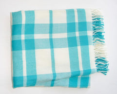 "226 - Two Color Windowpane Plaid with Fringe - 50"" x 60"""
