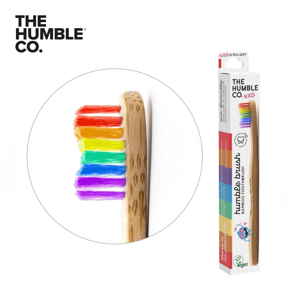 THE HUMBLE CO. Bamboo Toothbrush Kids, Soft, PROUD Limited Edition